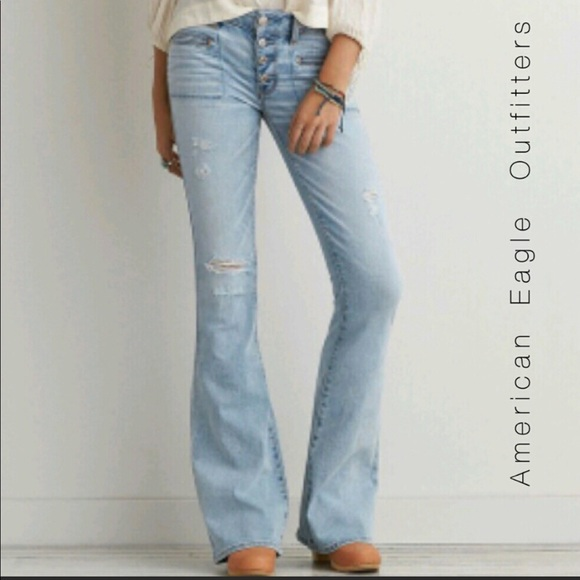 3400b8954ca43 American Eagle Outfitters Denim - American Eagle Artist Braided Flares  Jeans Size 18